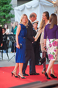 LADY HELEN TAYLOR; THE DUKE OF KENT, Celebration of the Arts. Royal Academy. Piccadilly. London. 23 May 2012.