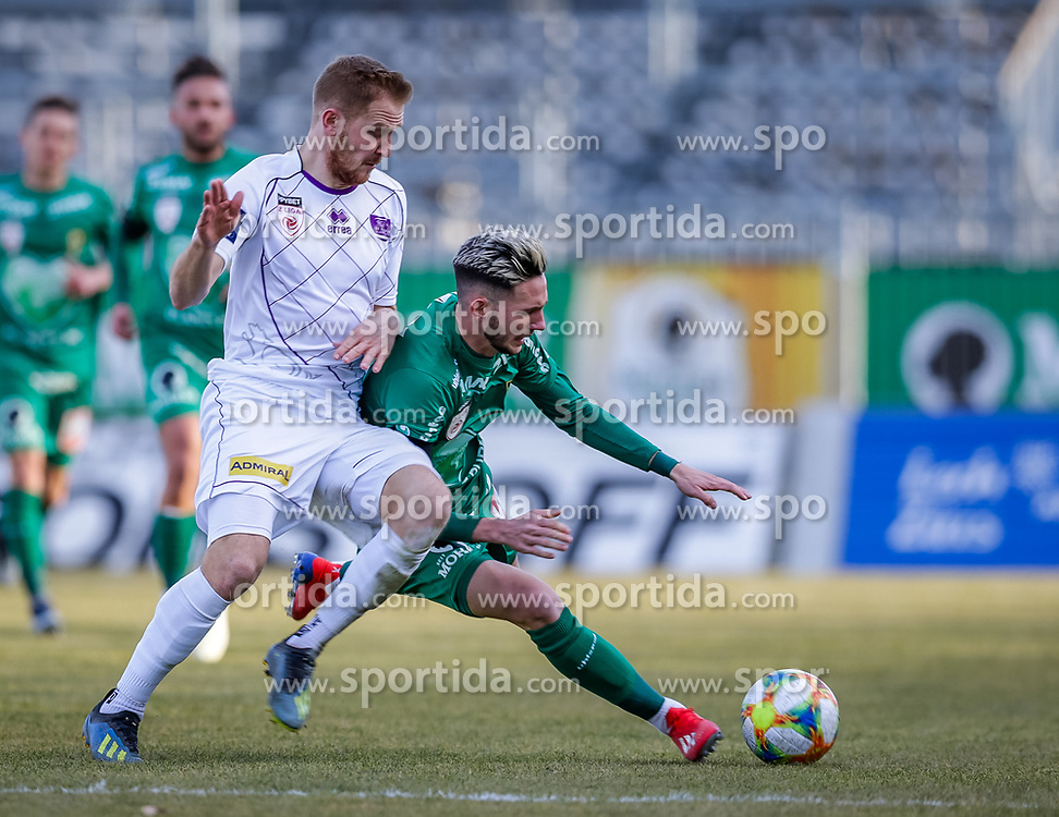23.02.2019, Reichshofstadion, Lustenau, AUT, 2. FBL, SC Austria Lustenau vs SK Austria Klagenfurt, 16. Runde, im Bild Markus Rusek (SK Austria Klagenfurt) und Marcel Canadi (SC Austria Lustenau) // during the Erste Liga 16th round match between SC Austria Lustenau and SK Austria Klagenfurt at the Reichshofstadion in Lustenau, Austria on 2019/02/23. EXPA Pictures © 2019, PhotoCredit: EXPA/ Peter Rinderer