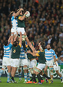 London, Great Britain,  Duane VERMEULEN, collecting the line out ball,    South Africa vs Argentina. 2015 Rugby World Cup, Bronze Medal Match.Queen Elizabeth Olympic Park. Stadium, Stratford. East London. England,, Friday  30/10/2015. <br /> [Mandatory Credit; Peter Spurrier/Intersport-images]
