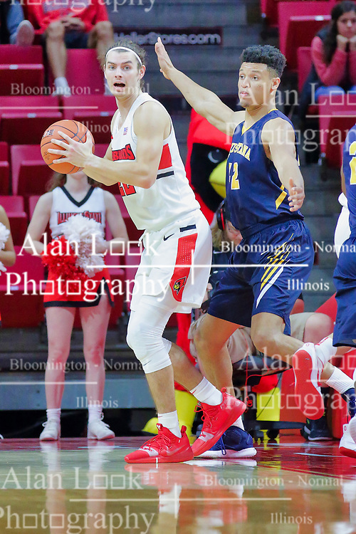 NORMAL, IL - November 03:  Matt Chastain and Joe Kellen during a college basketball game between the ISU Redbirds  and the Augustana Vikings on November 03 2018 at Redbird Arena in Normal, IL. (Photo by Alan Look)