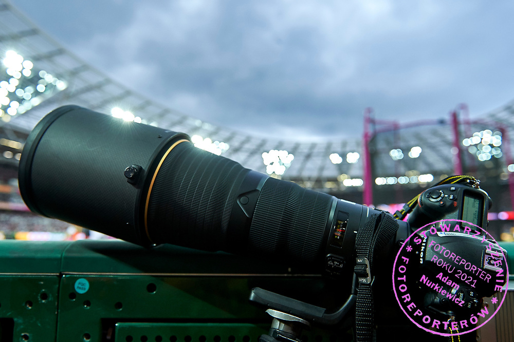 Great Britain, London - 2017 August 07: Nikona camera D5 during IAAF World Championships London 2017 Day 4 at London Stadium on August 07, 2017 in London, Great Britain.<br /> <br /> Mandatory credit:<br /> Photo by &copy; Adam Nurkiewicz<br /> <br /> Adam Nurkiewicz declares that he has no rights to the image of people at the photographs of his authorship.<br /> <br /> Picture also available in RAW (NEF) or TIFF format on special request.<br /> <br /> Any editorial, commercial or promotional use requires written permission from the author of image.
