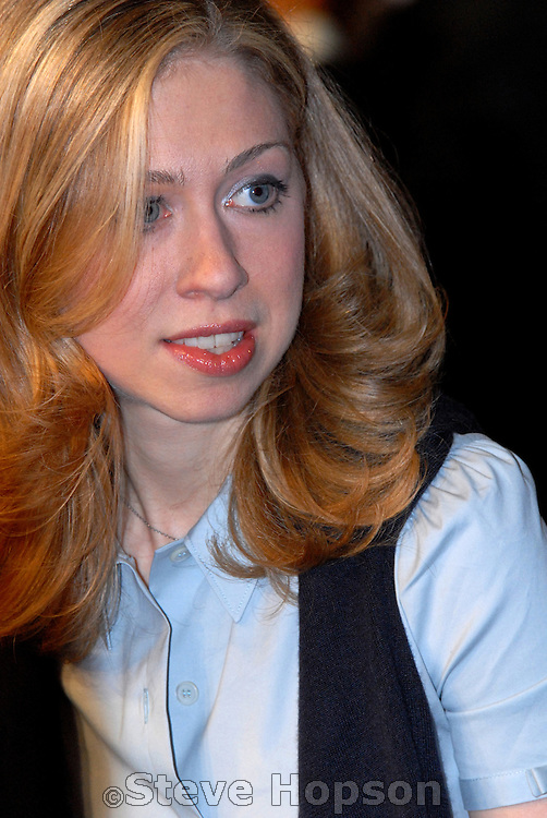 Chelsea Clinton, daughter of President and Senator Clinton, at the Democratic Primary debate with Barack Obama and Hillary Clinton on the University of Texas Campus in Austin Texas, February 21 2008.