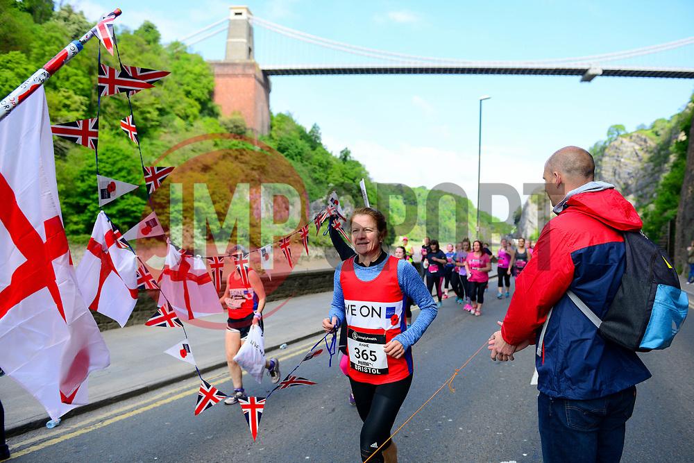 Runners take part in the Simply Health Great Bristol 10k run under the Clifton Suspension Bridge - Mandatory by-line: Dougie Allward/JMP - 07/05/2017 - MARATHON - Simplyhealth Great Bristol 10k