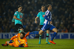Goal, Glenn Murray of Brighton & Hove Albion scores, Brighton & Hove Albion 3-0 Derby County - Mandatory by-line: Jason Brown/JMP - 10/03/2017 - FOOTBALL - Amex Stadium - Brighton, England - Brighton and Hove Albion v Derby County - Sky Bet Championship