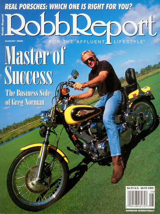 Magazine Cover - Robb Report Greg Norman