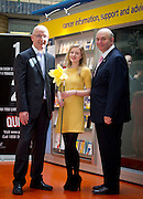 Repro Free: 22/08/2012 RTE's John Murray is pictured as he helped The Irish Cancer Society officially launch its Daffodil Centre at Tallaght Hospital, Dublin, with Daffodill Centre Volunteer Emer O'Toole from Blessington and John McCormack, CEO Irish Cancer Society. The Daffodil Centre, which is run by Irish Cancer Society specialist cancer nurses and trained volunteers, is an information service on-site in the hospital, where people affected by or concerned about cancer can receive information and support. Pic Andres Poveda