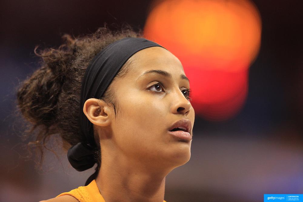 Skylar Diggins, Tulsa Shock, during the Connecticut Sun V Tulsa Shock WNBA regular game at Mohegan Sun Arena, Uncasville, Connecticut, USA. 2nd July 2013. Photo Tim Clayton