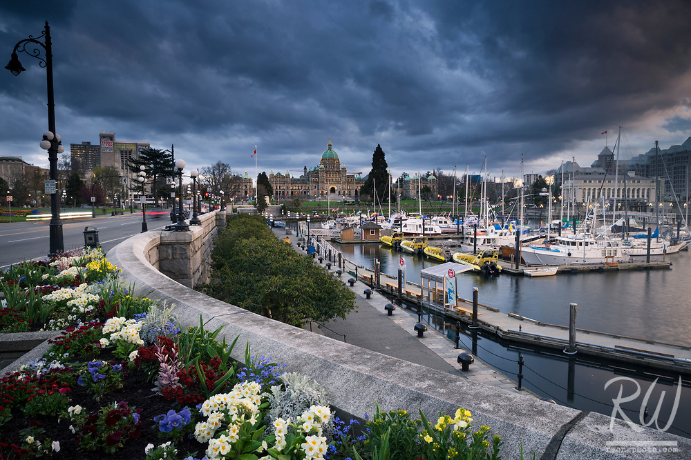 Storm Clouds Over Victoria's Inner Harbour, Vancouver Island, B.C., Canaada