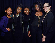 Attendees take photos at the Photo Booth at the All Black Affair at Baker University Center Ballroom  at Ohio University on Friday, January 29, 2016. (Photo by Sonja Y. Foster)