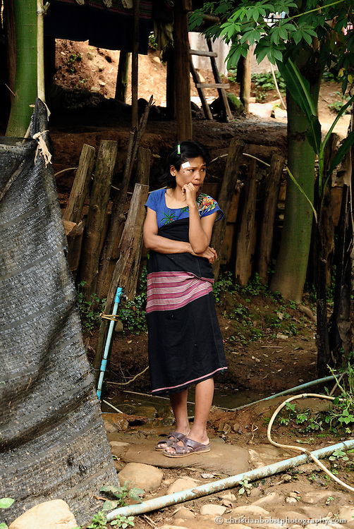 At the refugee camp Mae Ra Ma Luang