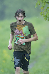 """(Kingston, Ontario---16/05/09) """"Dylan Walsh finshed 3 in the men's 5-6 km Sport Race at the 2009 Salomon 5 Peaks Trail Running series Race held in Kingston, Ontario as part of the Eastern Ontario/Quebec division.""""  Copyright photograph Sean Burges/Mundo Sport Images, 2009. www.mundosportimages.com / www.msievents.com."""
