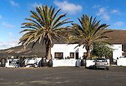 Bodega in  La Geria vineyard wine producing area, Lanzarote, Canary Islands, Spain
