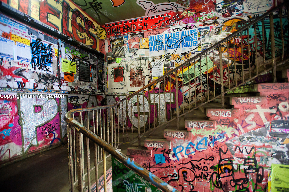 Interior of Tacheles art workshop space on Oranienburger Strasse in Berlin Germany