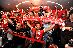 JAKARTA, INDONESIA - Thursday, July 18, 2013: Liverpool fans from the 'Big Reds' supporters club  at a fans' event at the FX Senayan Centre ahead of Liverpool FC's visit to Indonesia as part of their Preseason Tour. (Pic by David Rawcliffe/Propaganda)