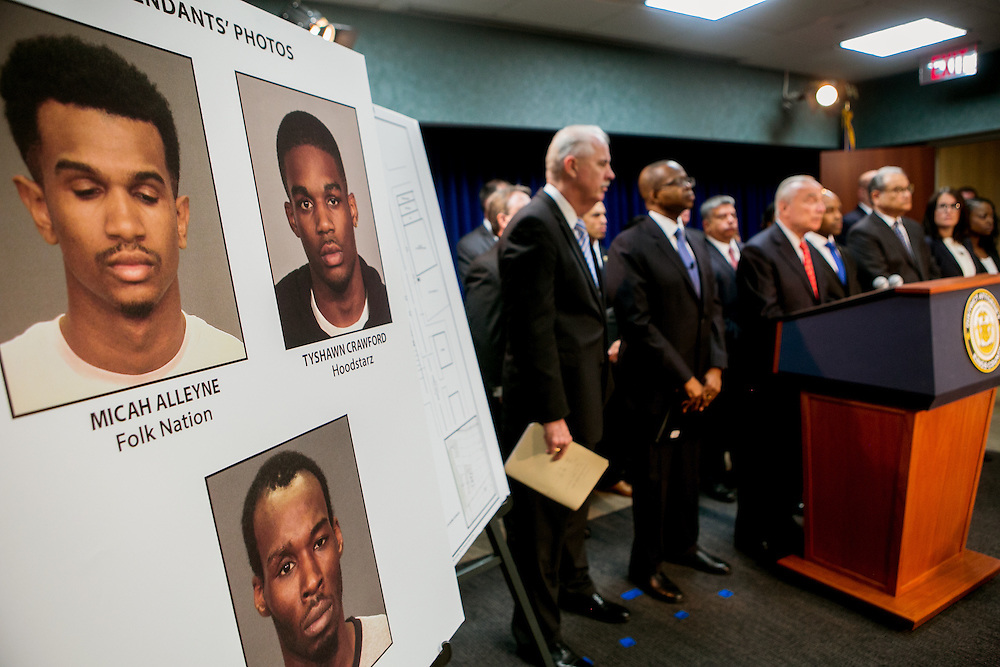 BROOKLYN, NY - JUNE 29, 2016: District Attorney Ken Thompson and police Commissioner William J. Bratton hold a press conference about the shooting death of Carey Gabay held at the Brooklyn District Attorney's headquarters in Brooklyn, New York. CREDIT: Sam Hodgson for The New York Times.