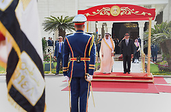 07.04.2016, Kairo, EGY, Der ägyptische Präsident Abdel Fattah al-Sisi empfängt Saudi-König Salman, im Bild, Der ägyptische Präsident Abdel Fattah al-Sisi empfängt Saudi-König Salman //  Egyptian President Abdel Fattah al-Sisi and Saudi King Salman bin Abdulaziz reviewing troops before a meeting. Saudi King Salman started a five-day visit to Cairo in a show of support for Egyptian President Abdel Fattah al-Sisi, with the leaders due to sign a raft of investment deals, Egypt on 2016/04/07. EXPA Pictures © 2016, PhotoCredit: EXPA/ APAimages/ Egyptian President Office<br /> <br /> *****ATTENTION - for AUT, GER, SUI, ITA, POL, CRO, SRB only*****