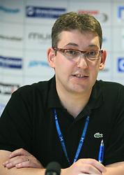 Ziga Debeljak, predsednik RZS ob podpisu sponzorske pogodbe med Rokometno zvezo Slovenije in podjetjem GEN energija d.o.o., 7. junij 2008, v Dvorani Zlatorog, Celje, Slovenija. (Photo by Vid Ponikvar / Sportal Images)