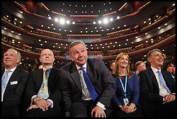 (LtoR) William Hague, Michael Gove and Philip Hammond during the Conservative Party Conference at ICC, Birmingham, on the second day of the Party Conference, Tuesday October 8, 2012. Birmingham, England. Photo by Andrew Parsons / i-Images..