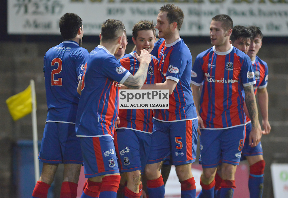 Top dogs - City players celebrate with opening scorer Thomas Reilly after his opening goal against East Fife saw City go top of the league......(c) BILLY WHITE | SportPix.org.uk