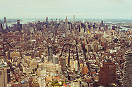 A view of Manhattan, New York City, taken from the top of the World Trade Center