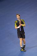 Andy Murray (SCO) runner-up vs N Djokovic <br /> Rod Laver Arena . Day 14. Mens Singles Final. Australian Open Grand Slam Tennis Championship. Melbourne Olympic Park, Melbourne, Victoria, Australia. 27/01/2013. © 2013 Sport the library /Lucas Wroe