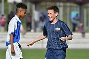 08.04.17; Zuerich; Fussball FCZ Academy - Grasshopper Club - Zuerich FE14 Oberland; <br /> Lederer Pascal (Zuerich) jubel<br /> (Andy Mueller/freshfocus)