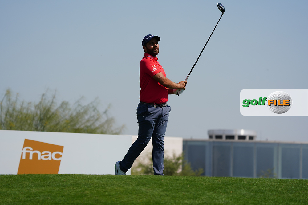 Romain Langasque (FRA) on the 3rd during Round 2 of the Commercial Bank Qatar Masters 2020 at the Education City Golf Club, Doha, Qatar . 06/03/2020<br /> Picture: Golffile | Thos Caffrey<br /> <br /> <br /> All photo usage must carry mandatory copyright credit (© Golffile | Thos Caffrey)