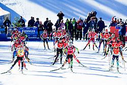 MAKARAINEN Kaisa (FIN), DOMRACHEVA Darya (BLR), SEMERENKO Valj (UKR) and other athletes compete during Women 12,5 km Mass Start at day 4 of IBU Biathlon World Cup 2014/2015 Pokljuka, on December 21, 2014 in Rudno polje, Pokljuka, Slovenia. Photo by Vid Ponikvar / Sportida