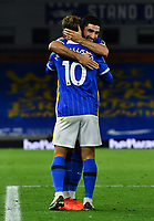 Football - 2020 / 2021 EFL Cup - Round Two - Brighton & Hove Albion vs Portsmouth<br /> <br /> Brighton & Hove Albion's Alireza Jahanbakhsh congratulates Alexis Mac Allister after his opening goal, at the Amex Stadium.<br /> <br /> COLORSPORT/ASHLEY WESTERN