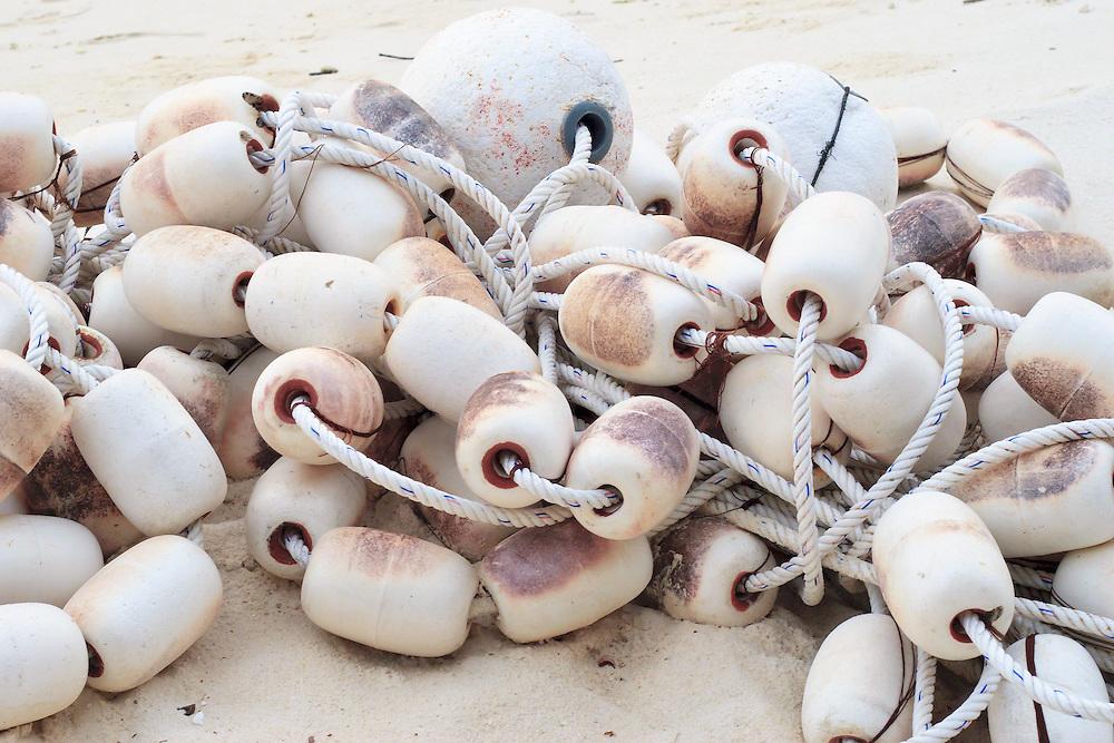 Buoys for fishing net on beach - Pulau Redang, Malaysia