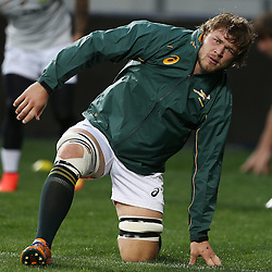 PORT ELIZABETH, SOUTH AFRICA - JUNE 27: Duane Vermeulen of South Africa during the South African National rugby team captains run and official team photograph at Nelson Mandela Bay Stadium on June 27, 2014 in Port Elizabeth, South Africa. (Photo by Steve Haag/Gallo Images)
