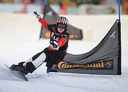 10-10-2010 SNOWBOARDEN: LG FIS WORLDCUP: LANDGRAAF<br /> First World Cup parallel slalom of the season / KDUJMOVITS Julia AUT<br /> ©2010-WWW.FOTOHOOGENDOORN.NL