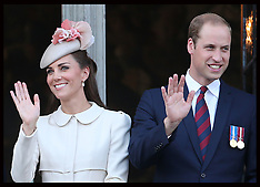 AUG 04 2014 The Duke and Duchess of Cambridge and Prince Harry in Belgium