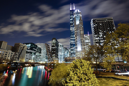 West Loop Chicago at Night