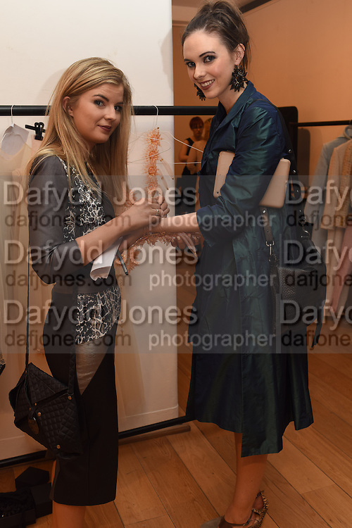 TARA ENNIS; DESIGNER; BLAITHIN ENNIS, The Arthur Cox Irish Fashion Showcase 2015,  Irish based designers chosen to be part of this year's Arthur Cox Irish Fashion Showcases The Mall Galleries, London. 13 May 2015.