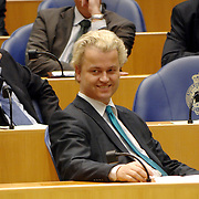 NLD/Den Haag/20070412 - Visit of Mr. Hans-Gert Pöttering, president of the European parliament to The Hague, visiting the second chamber of the Dutch parliament, chamber member Geert Wilders.  ** foto + verplichte naamsvermelding Brunopress/Edwin Janssen  **