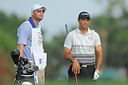 Arjun Atwal amd his caddie during the first round of the Honda Classic at PGA National on March 1, 2012 in Palm Beach Gardens, Fla. ..©2012 Scott A. Miller.