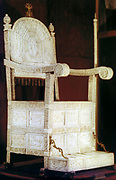 Ivory throne of Ivan the Terrible. Ivan IV Vasilyevich (1530-1584) Tsar of Russia from 1533/4.