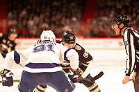 2019-11-08 | Stockholm, Sweden : Tampas Steven Stamkos (91) and Buffalo Marcus Johansson (90) at faceoff during the NHL Global series at Globe Arena (Photo by : Daniel Carlstedt | Swe Press Photo (35) during the<br /> NHL Global Series at Globe Arena (Photo by : Daniel Carlstedt | Swe Press Photo