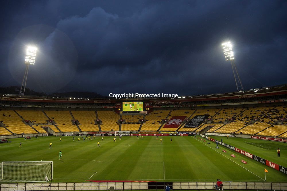 General View of the Westpac Stadium during the Hyundai A-League, Wellington Phoenix vs Central Coast Mariners, Westpac Stadium, Wellington, Saturday 14th January 2017. Copyright Photo: Raghavan Venugopal / www.photosport.nz