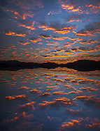 Mexico. Latin America,Baja, La Ventana, Sea of Cortez, sunset clouds near La ventana