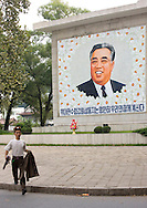 Kim Il Sung Memorial, North Korea.<br /> -Many say that in your country, the only man who smiles is Kim il Sung on the posters.<br /> -American propaganda Mr Eric&hellip; See for yourself.