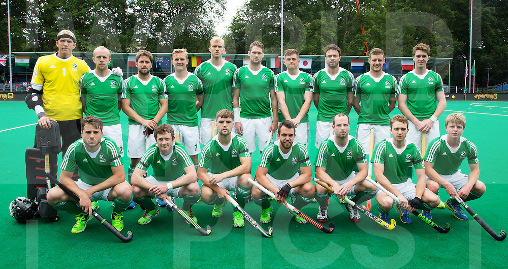 ANTWERP -    Irish team before   the match between  the men of Great Britain and Ireland (2-2)  WSP COPYRIGHT KOEN SUYK