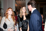 Charlotte Tilbury; Eva Herzigova; Gregorio Marsiaj, Harper's Bazaar Women Of the Year Awards 2011. Claridges. Brook St. London. 8 November 2011. <br /> <br />  , -DO NOT ARCHIVE-© Copyright Photograph by Dafydd Jones. 248 Clapham Rd. London SW9 0PZ. Tel 0207 820 0771. www.dafjones.com.