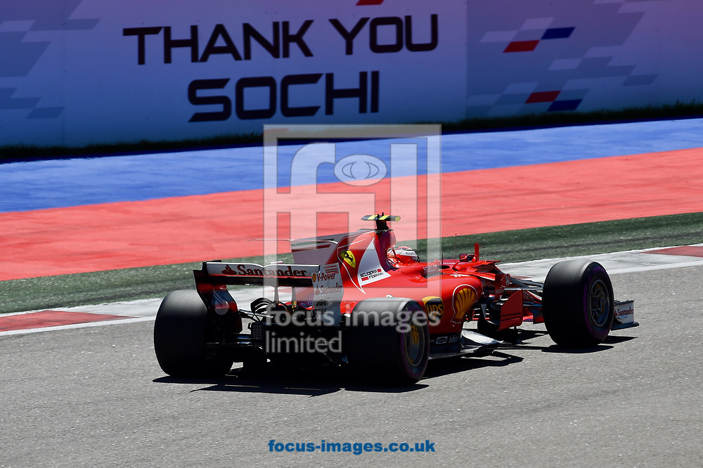 Kimi Raikkonen of Scuderia Ferrari en route to coming third in the Russian Formula One Grand Prix at Sochi Autodrom, Sochi, Russia.<br /> Picture by EXPA Pictures/Focus Images Ltd 07814482222<br /> 30/04/2017<br /> *** UK &amp; IRELAND ONLY ***<br /> <br /> EXPA-EIB-170430-0318.jpg