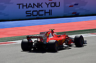 Kimi Raikkonen of Scuderia Ferrari en route to coming third in the Russian Formula One Grand Prix at Sochi Autodrom, Sochi, Russia.<br /> Picture by EXPA Pictures/Focus Images Ltd 07814482222<br /> 30/04/2017<br /> *** UK & IRELAND ONLY ***<br /> <br /> EXPA-EIB-170430-0318.jpg