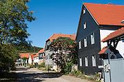 Rundlingsdorf Tiefengruben, Thüringen, Deutschland   round village Tiefengruben, Thuringia, Germany