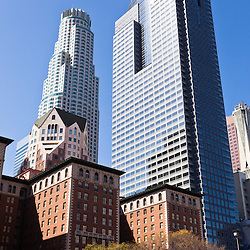 Photo of Los Angeles downtown buildings in Southern California in the United States.