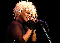 """Joyce """"Baby Jean"""" Kennedy vocalist for the Band Mother's Finest- brings the funk the the Historic Newberry Opera House, in Newberry S.C."""