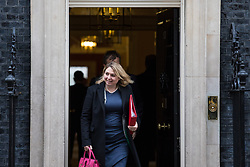 © Licensed to London News Pictures. 14/11/2017. London, UK. Secretary of State for Culture, Media and Sport Karen Bradley leaves 10 Downing Street after the weekly Cabinet meeting. Photo credit: Rob Pinney/LNP